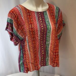 Maeve Anthropologie Colorful Top Blouse Small